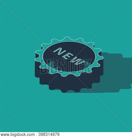Isometric Price Tag With An Inscription New Icon Isolated On Green Background. Badge For Price. Prom
