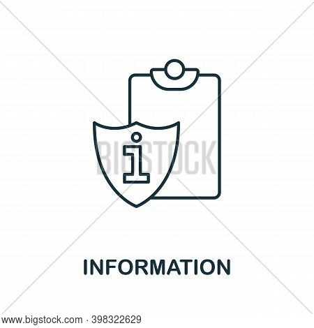 Information Icon. Line Style Element From Gdpr Collection. Thin Information Icon For Templates, Info
