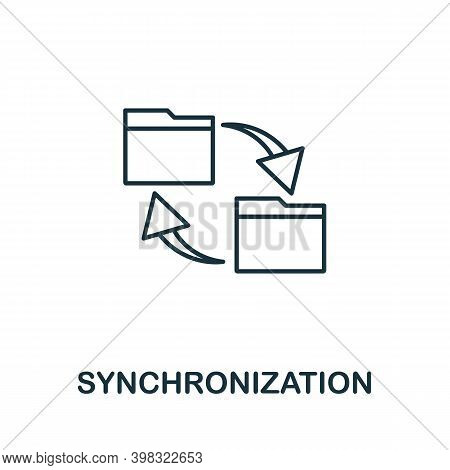 Synchronization Icon. Line Style Element From Gdpr Collection. Thin Synchronization Icon For Templat