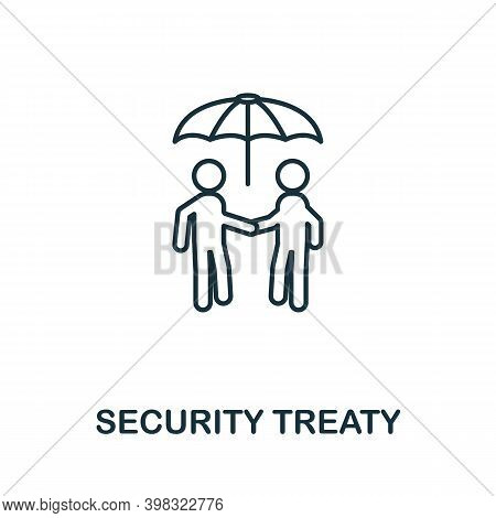 Security Treaty Icon. Line Style Element From Gdpr Collection. Thin Security Treaty Icon For Templat