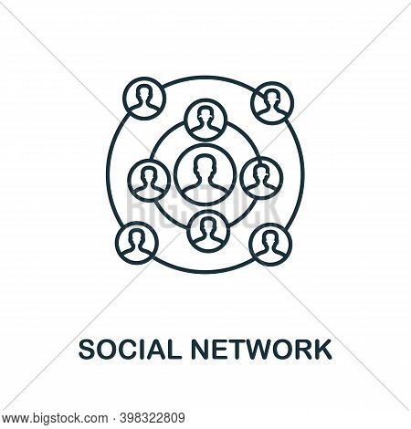 Social Network Icon. Line Style Element From Gdpr Collection. Thin Social Network Icon For Templates