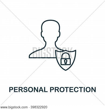 Personal Protection Icon. Line Style Element From Gdpr Collection. Thin Personal Protection Icon For