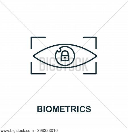 Biometrics Icon. Line Style Element From Gdpr Collection. Thin Biometrics Icon For Templates, Infogr