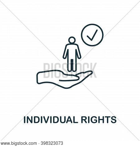 Individual Rights Icon. Line Style Element From Gdpr Collection. Thin Individual Rights Icon For Tem