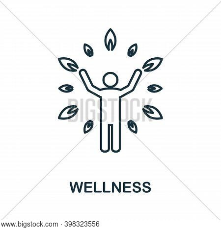 Wellness Icon. Line Style Element From Life Skills Collection. Thin Wellness Icon For Templates, Inf