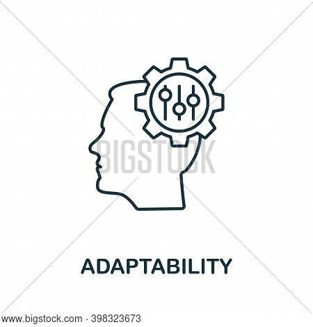 Adaptability Icon. Line Style Element From Life Skills Collection. Thin Adaptability Icon For Templa