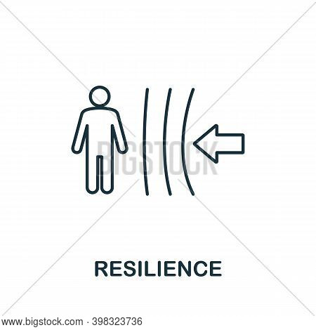 Resilience Icon. Line Style Element From Life Skills Collection. Thin Resilience Icon For Templates,