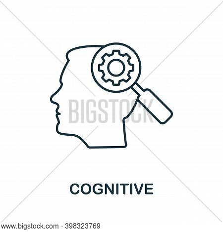 Cognitive Icon. Line Style Element From Life Skills Collection. Thin Cognitive Icon For Templates, I
