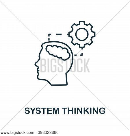 System Thinking Icon. Line Style Element From Life Skills Collection. Thin System Thinking Icon For