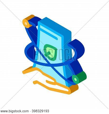 Smartphone Nfc Icon Vector. Isometric Smartphone Nfc Sign. Color Isolated Symbol Illustration