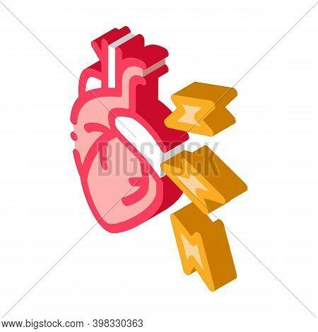Hypertension Illness Icon Vector. Isometric Hypertension Illness Sign. Color Isolated Symbol Illustr