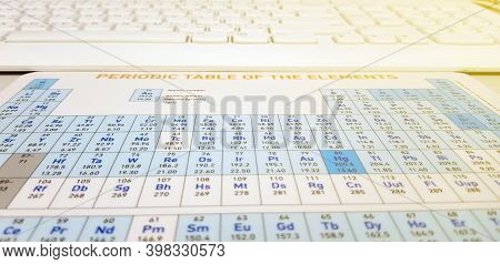 Macro Detail Of A Self Rendered Periodic Table Of Elements,complete Periodic Table Of The Elements W