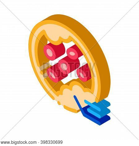 Blockage Of Blood Vessels Icon Vector. Isometric Blockage Of Blood Vessels Sign. Color Isolated Symb