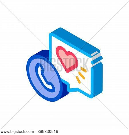 Hypertension Call Doctor Icon Vector. Isometric Hypertension Call Doctor Sign. Color Isolated Symbol