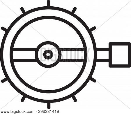 Black Line Trap Hunting Icon Isolated On White Background. Vector