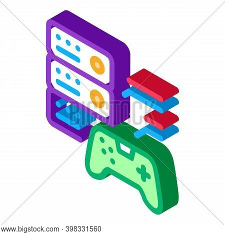 Game Main Menu Icon Vector. Isometric Game Main Menu Sign. Color Isolated Symbol Illustration