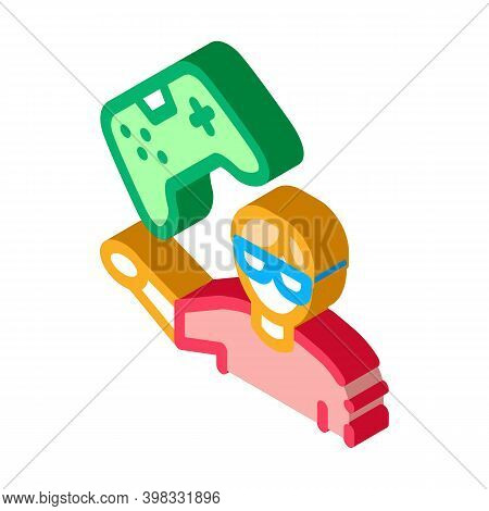 Gamer Gaming Icon Vector. Isometric Gamer Gaming Sign. Color Isolated Symbol Illustration