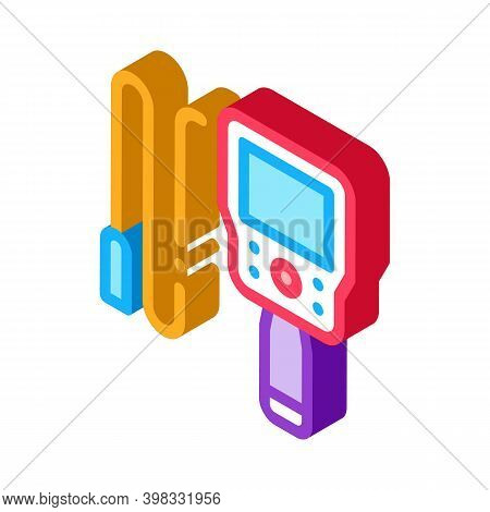 Drain Cleaning Electronic Device Icon Vector. Isometric Drain Cleaning Electronic Device Sign. Color