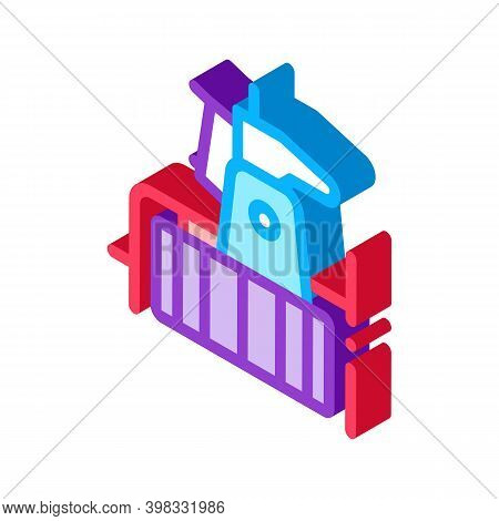 Drain Cleaning Instrument Icon Vector. Isometric Drain Cleaning Instrument Sign. Color Isolated Symb