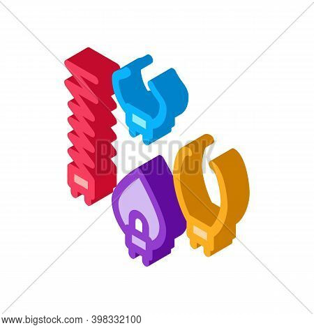 Multifunctional Drain Cleaning Claw Icon Vector. Isometric Multifunctional Drain Cleaning Claw Sign.