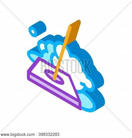 Drain Cleaning Icon Vector. Isometric Drain Cleaning Sign. Color Isolated Symbol Illustration