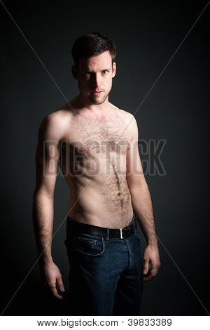 Young Man In Blue Jeans