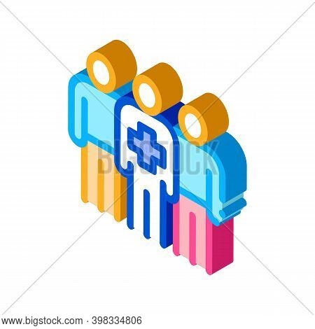 Medical Staff Icon Vector. Isometric Medical Staff Sign. Color Isolated Symbol Illustration