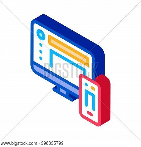 Adaptive Picture Icon Vector. Isometric Adaptive Picture Sign. Color Isolated Symbol Illustration