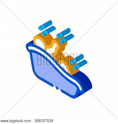Child Bathing Icon Vector. Isometric Child Bathing Sign. Color Isolated Symbol Illustration