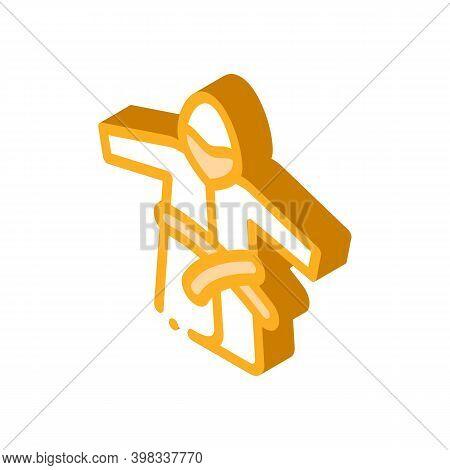 Bathrobe Clothes Icon Vector. Isometric Bathrobe Clothes Sign. Color Isolated Symbol Illustration