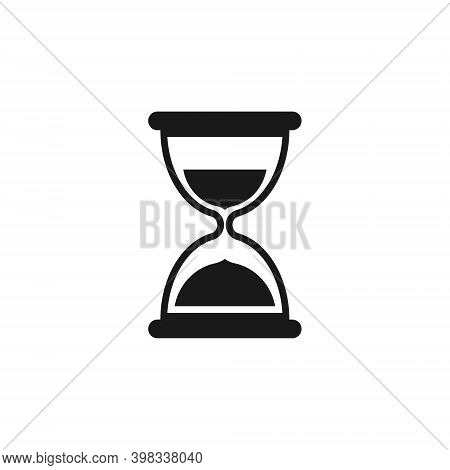 Hourglass Vector Icon. Clock And Time Symbol. Sandglass Timer Sign.