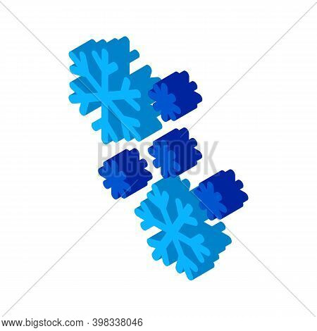 Snow Flakes Icon Vector. Isometric Snow Flakes Sign. Color Isolated Symbol Illustration