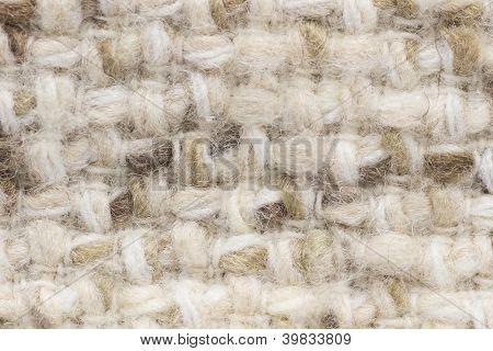 Close up shot of light wool fabric texture poster