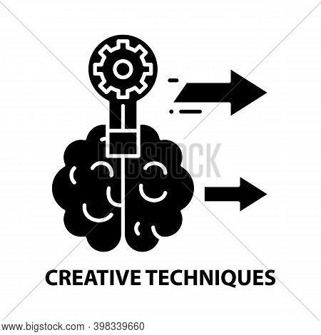 Creative Techniques Icon, Black Vector Sign With Editable Strokes, Concept Illustration