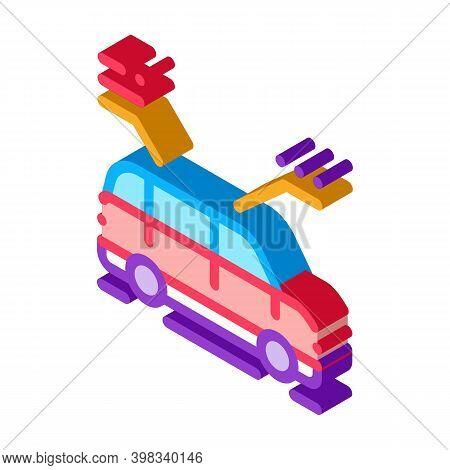 Car Characteristics Icon Vector. Isometric Car Characteristics Sign. Color Isolated Symbol Illustrat