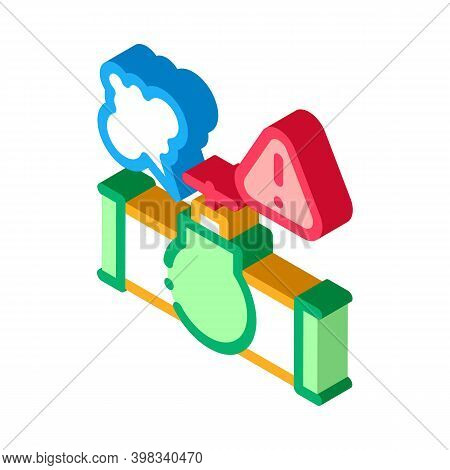 Gas Pipe Break Icon Vector. Isometric Gas Pipe Break Sign. Color Isolated Symbol Illustration