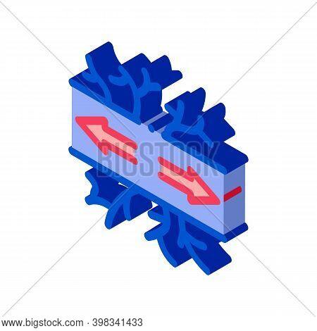 Damaged Vessel Varicose Disease Color Icon Vector. Isometric Damaged Vessel Varicose Disease Sign. C