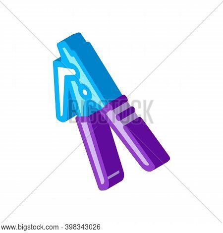 Repair Tool Optical Fiber Color Icon Vector. Isometric Repair Tool Optical Fiber Sign. Color Isolate