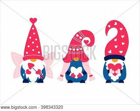 Valentine Cute Gnomes Dwarfs Cupid Love Heart