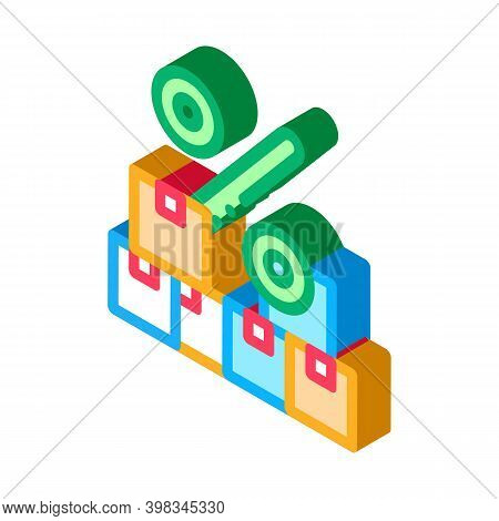 Wholesale Purchase Discount Color Icon Vector. Isometric Wholesale Purchase Discount Sign. Color Iso