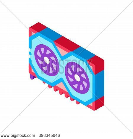 Video Adapter Color Icon Vector. Isometric Video Adapter Sign. Color Isolated Symbol Illustration