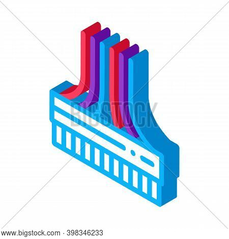Computer Wires Color Icon Vector. Isometric Computer Wires Sign. Color Isolated Symbol Illustration