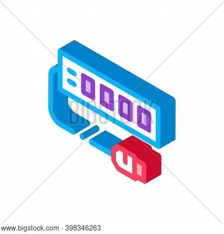 Modem Internet Device Color Icon Vector. Isometric Modem Internet Device Sign. Color Isolated Symbol