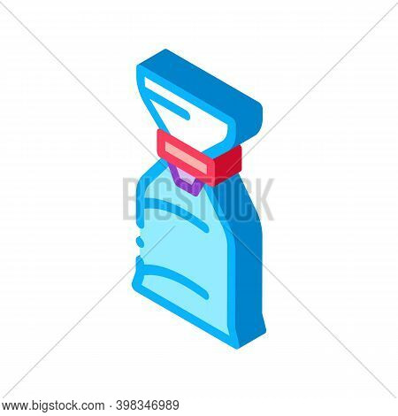 Air Bag For Asthmatic Color Icon Vector. Isometric Air Bag For Asthmatic Sign. Color Isolated Symbol