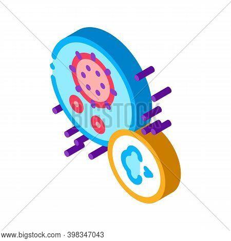 Virus Disease Asthma Color Icon Vector. Isometric Virus Disease Asthma Sign. Color Isolated Symbol I
