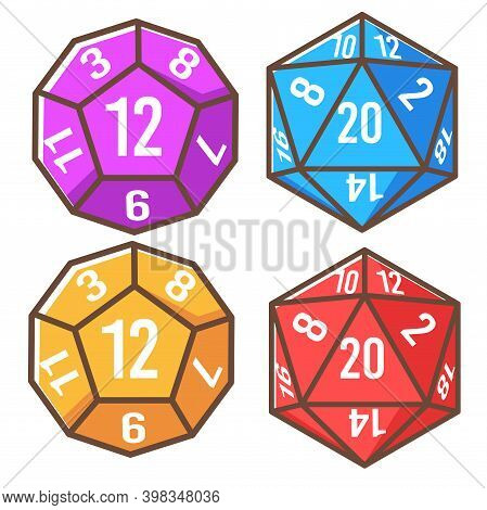 Polyhedron Dice Cube With Numbers, Playing Games