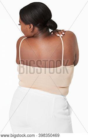 Women's plus size fashion tank top apparel mockup
