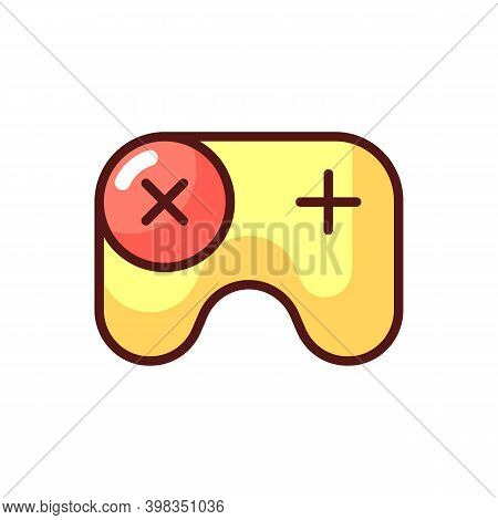 Games App Rgb Color Icon. Gameplay Feature. Pc, Mobile And Console Games. Video Gaming Experience. M