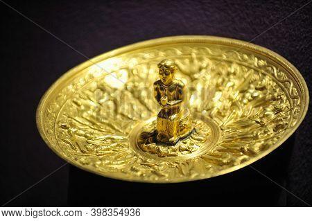 Bucharest, Romania - April 11, 2012: Items Of The Romanian Treasure Inside Romanian National History