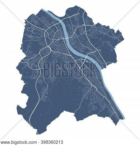 Bonn Map. Detailed Vector Map Of Bonn City Administrative Area. Cityscape Poster Metropolitan Aria V